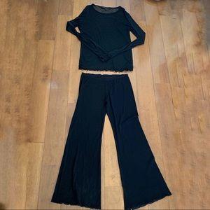 Ralph Laure Sheer Mesh Top & Pants